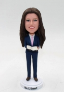 Custom female pastor bobblehead