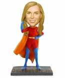 Super woman custom bobble heads