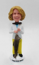 Custom bobblehead for female-Fishing