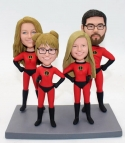 Custom bobbleheads for family- Incredibles- for 4 persons