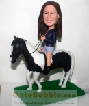 Custom bobblehead Riding a horse