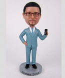 Custom bobbleheads with phone
