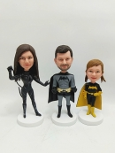 Make Your Own Bobbleheads for A Family of Three