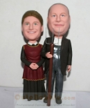 American Gothic style couple bobblehead