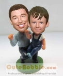 Father and son custom bobbleheads