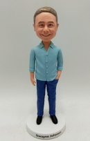 Personalized bobblehead doll-Male in casual