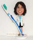 Female Dentist bobbleheads