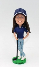 Custom bobbleheads-Playing golf female