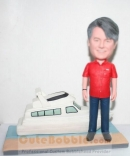 Personalized bobblehead with boat