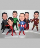 Superhero custom bobbleheads for 6