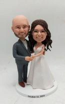 Custom bobbleheads- wedding cake topper