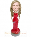 Elegant lady custom bobble heads