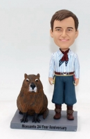 Personalized bobblehead doll with Capybara