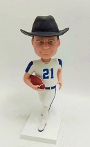Personalized bobble head-playing football