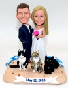 Wedding Bobblehead Cake Toppers-