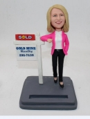 Custom bobbleheads-Realtor/ Real estate agent female
