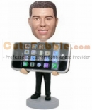 Iphone holder custom bobbleheads