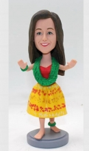 Custom bobblehead Hula Girl