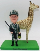 Hunter bobblehead with Giraffe