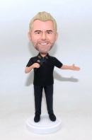 Custom singing bobblehead doll