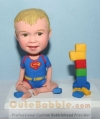 Superman bobblehead with lego