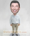 Personalised male bobbleheads