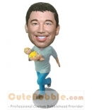 Custom bobbleheads- Dad holding baby