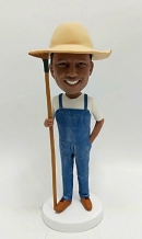 Personalize bobbleheads doll-Farmer