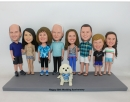Family/Team bobbleheads for different 3-9 persons