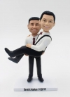 Custom bobbleheads- Same Sex wedding cake topper