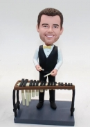 Playing the marimba-custom bobbleheads