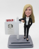Female realtor bobbhead your own