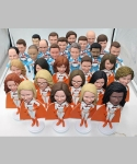 Team bobbleheads for different persons