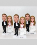 Wedding bobbleheads cake topper- On sale