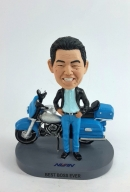 Custom bobbleheads with motorcycle