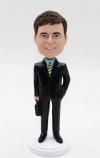 Personalized custom bobblehead doll - businessman