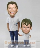 Christmas gifts-Father and son bobbleheads
