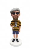Custom bobblehead male holding beer in hand