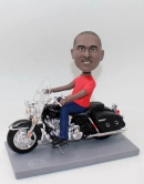 Custom bobblehead- Riding on motorcycle