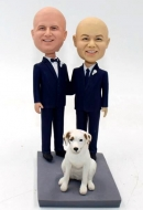 Two grooms custom wedding bobbleheads