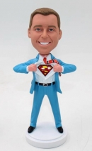 Superman transform bobblehead doll