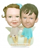 Brother and sister bobbleheads-Angel