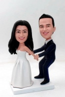 Policeman Groom Wedding Bobbleheads