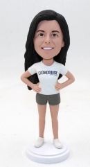 Personalize female bobblehead