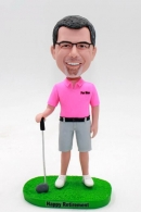 custom golfer bobblehead - Best retirement gift