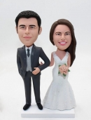 Traditional wedding cake toppers-custom bobbleheads