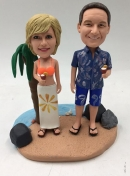 Custom bobbleheads- Beach themed