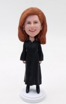 Custom lawyer bobblehead- female