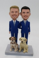 Gay wedding cake topper-custom bobbleheads