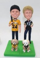 Custom bobblehead-Baseball themed for couple